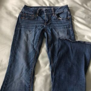 American Eagle boot cut jeans, size 0 short
